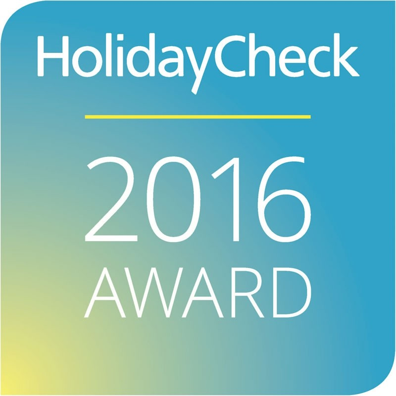 Holidaycheck Award Siegel 2016